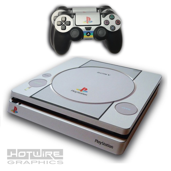 Ps4 Slim Skin Sticker Kit Playstation 1 Ps1 Retro Style