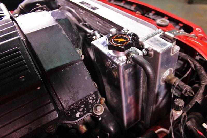 BMW E36 Aluminum Coolant Expansion Tank 1992-1999 Silver Mishimoto