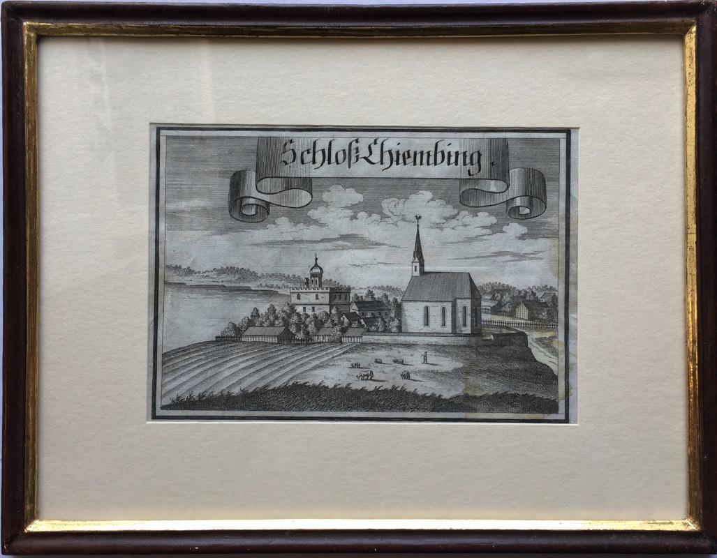 MICHAEL WENING (1645-1718) KUPFERSTICH BAROCK SCHLOSS IN VERGOLDER ...