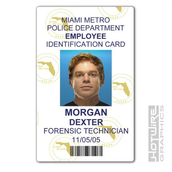 Plastic Id Card Tv Series Prop  Dexter Morgan  Dexter Forensics