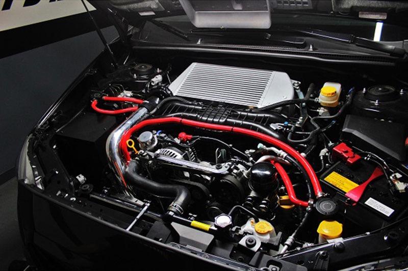 Wrinkle Red Mishimoto 2015 Subaru WRX Charge Pipe Kit