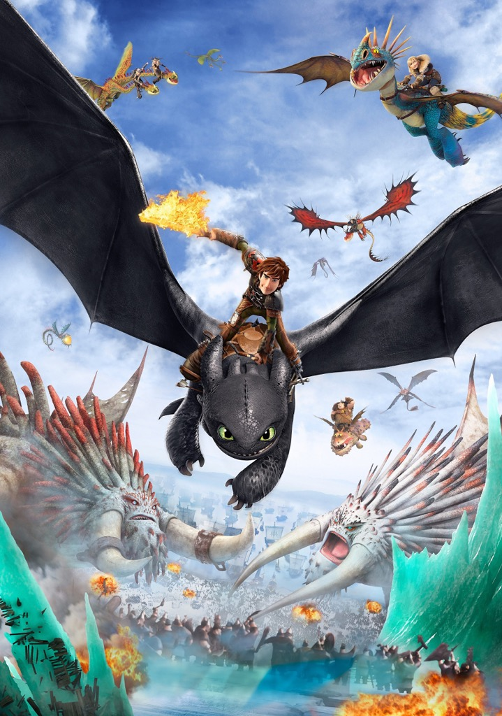 HOW TO TRAIN YOUR DRAGON Movie PHOTO Print POSTER Film Art Hiccup Toothless 003